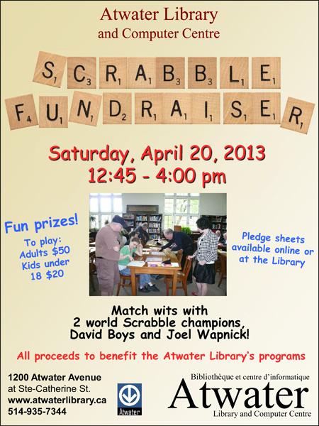 Scrabble Fundraiser